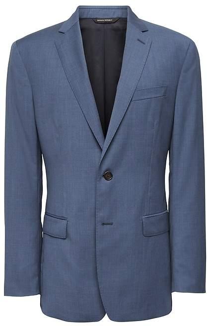 Banana Republic Slim Blue Italian Wool Suit Jacket