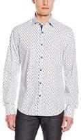 Stone Rose Men's Sneaker Print Long Sleeve Button Down Shirt