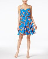 CeCe Pillar Floral-Print A-Line Dress
