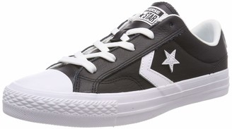 Converse Lifestyle Star Player Ox Leather Unisex Adult's Low-Top Sneakers Black (Black/White/White 083) 4.5 UK (37 EU)