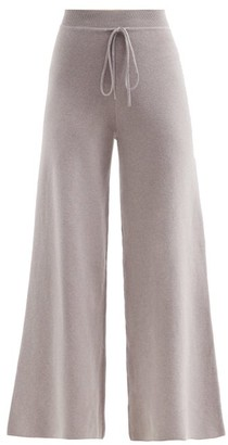 Live The Process Baja Cotton-blend Knitted Track Pants - Light Grey