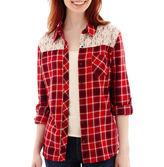 Arizona Long-Sleeve Plaid Lace Shirt