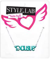 Fashion Angels Blue & Silvertone 'Exclusive' Pendant Necklace