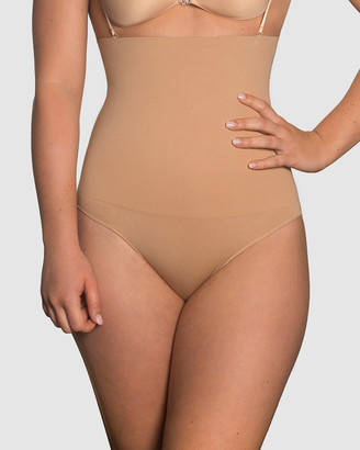 B Free Intimate Apparel - Women's Gold Lingerie Accessories - Power Shaping Stay Up Brief - Size One Size, S at The Iconic