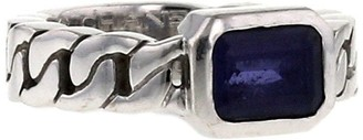 Chanel Pre Owned 2000s Pre-Owned Stone Curb Ring