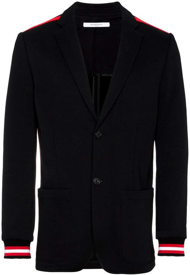 Givenchy stripe-trimmed blazer