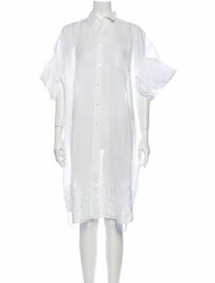 Junya Watanabe Comme Des Garçons Linen Midi Length Dress White