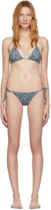 Matteau Blue Floral String Bikini