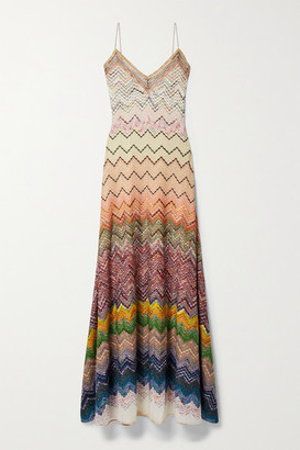 Missoni Metallic Crochet-knit Maxi Dress - Ivory