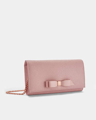 Ted Baker ALAINE Bow cross body leather matinee bag