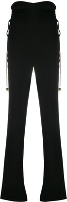 Nanushka High Waisted Ruched Trousers