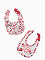 Kate Spade Layette budding genius bib set