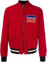 MSGM zipped leather jacket - men - Cotton/Lamb Skin - 48