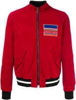MSGM zipped leather jacket