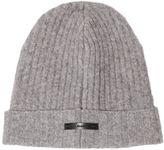 Diesel Black Gold Wool Blend Rib Knit Beanie Hat