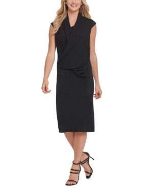 DKNY Draped Crossover-Front Dress
