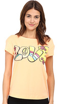 Love Moschino I Love Peace T-Shirt Women's T Shirt