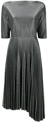 Fabiana Filippi Metallic Pleated Dress