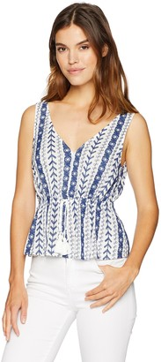 Cupcakes And Cashmere Women's Blinda Embroidered Peplum Top