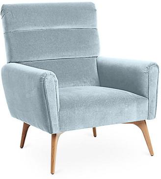 Kim Salmela Devon Accent Chair - Sky Blue Velvet