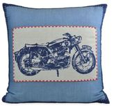 Dylan Motorcycle Square Throw Pillow