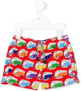 Mc2 Saint Barth Kids - van print swim shorts - kids - Polyamide/Polyester/Spandex/Elastane - 4 yrs