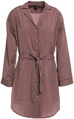 ELSE Dixie Striped Cotton-blend Nightshirt