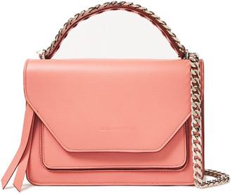 Elena Ghisellini Eclipse Sensua Chain-trimmed Textured-leather Shoulder Bag