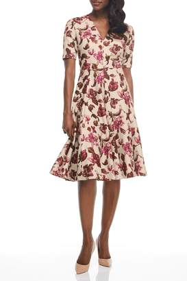 Gal Meets Glam Floral Print Fit & Flare Knee Length Dress