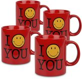 "Waechtersbach I Smile You"" 4-pc. Mug Set"