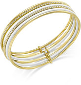 Kate Spade Gold-Tone Blue Enamel Stacked Bangle Bracelets