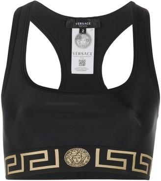 Versace Greca-print sports bra
