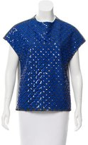 Sachin + Babi Embellished Scoop Neck Top