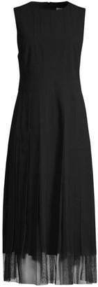 HUGO BOSS Divoby Satin Back Crepe Dress