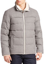 GUESS Quilted-Down Layer-Look Jacket