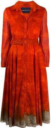 Samantha Sung Aster ombre-print dress