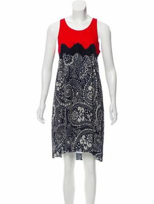 Chloé Printed Knee-Length Dress w/ Tags Red