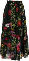 Blugirl poppy print midi skirt