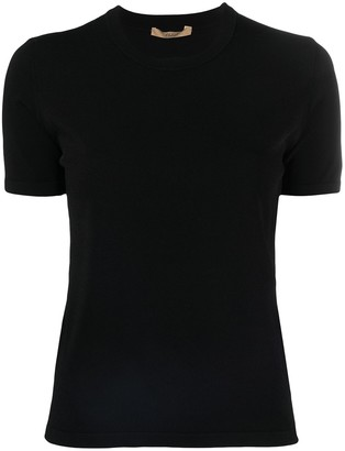 Nuur crew-neck fitted T-shirt
