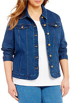 Allison Daley Plus Button Front Denim Jacket