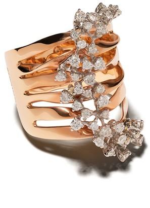Brumani 18kt Rose Gold Layered Diamond Ring