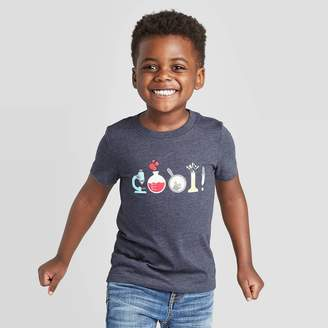 Cat & Jack Toddler Boys' Short Sleeve Cool Science Graphic T-Shirt - Cat & JackTM Navy