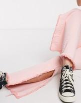 Glamorous denim flares in baby pink