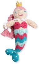 Zubels Cotton Mermaid Rattle, Multicolor