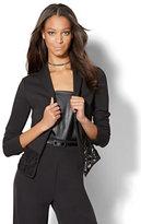 New York & Co. Lace-Trim Blazer - Black