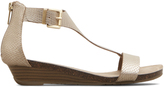 Kenneth Cole Great Gal Metallic T-Strap Wedge