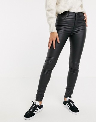 Dr. Denim Plenty mid rise leather look skinny jean
