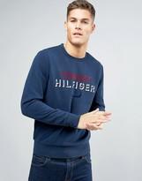 Tommy Hilfiger Flock Logo Sweatshirt Crew Neck