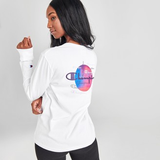 Champion Women's Life Boyfriend Back Hit Long-Sleeve T-Shirt