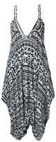 Oops Outlet Women's Thin Strap Lagenlook Romper Baggy Harem Jumpsuit Playsuit Plus Size (US/18)